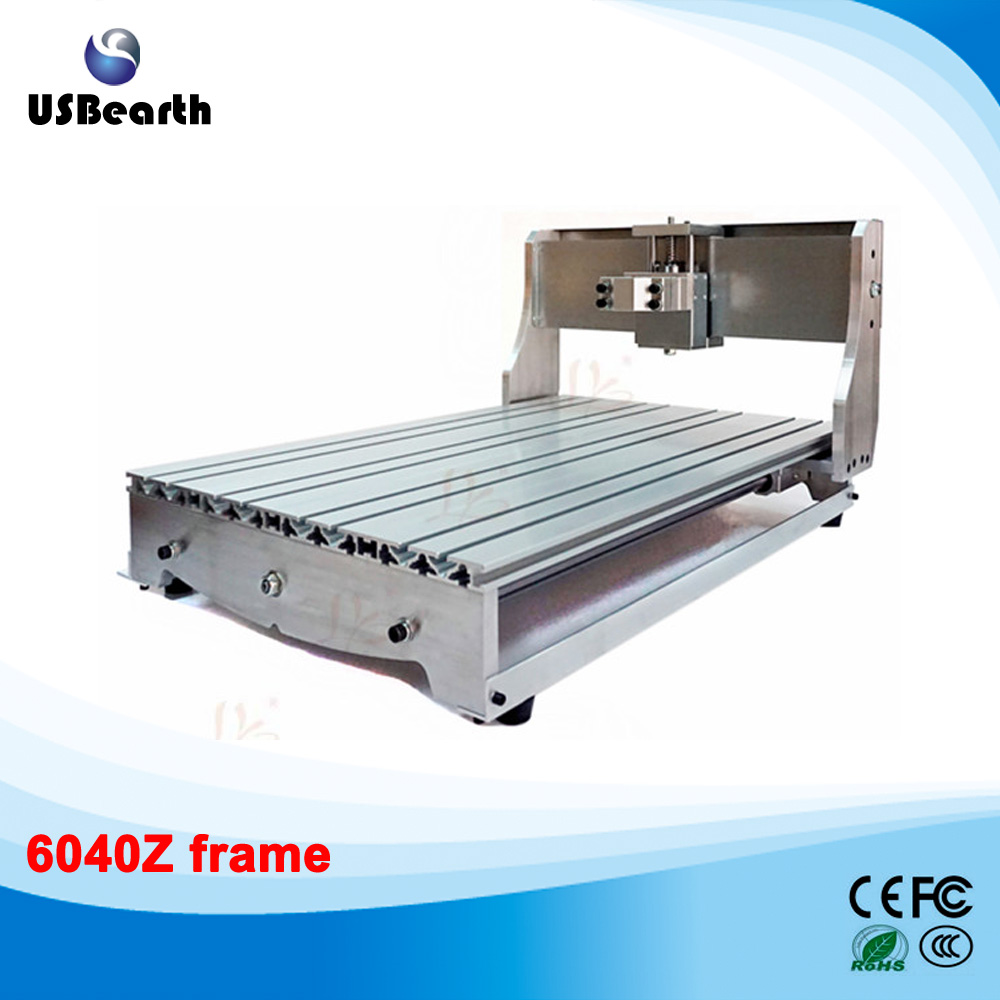 2017 6040Z CNC Router Frame kit 6040 milling machine DIY rack 6040 cnc router frame milling machine mechanical kit ball screw aluminum clamp can interchangeable 80mm