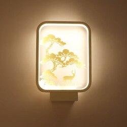 Nowoczesna lampa sufitowa LED korytarz hotelowe oświetlenie ścienne ścienne Sconse światło w pomieszczeniach skwer doprowadziły lampy złoty wzór sosna oświetlenie domu w Wewnętrzne kinkiety LED od Lampy i oświetlenie na