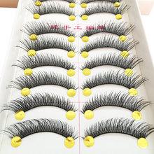 1/5/6/10 Pairs Natural False Eyelashes Fake Lashes Long Makeup 3D Thick Cross Eyelash Extension For Beauty