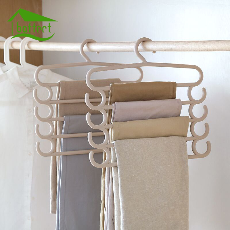 LOT Trousers Hanger 5 Layers Pants Scarf Hanger Holder Organizer Rack S Type