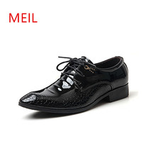 Black Formal Patent Leather Shoes Men Brand Office Wedding Dress Oxford for Loafers Zapatos Hombre