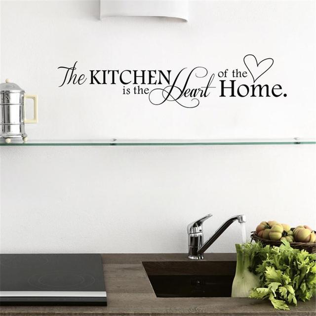 Us 104 37 Offnajnowszy Projekt Kuchni Jest Sercem Domu List Wzór Naklejki ścienne Pcv Wymienny Home Decor Diy Wall Art Mural W Najnowszy Projekt