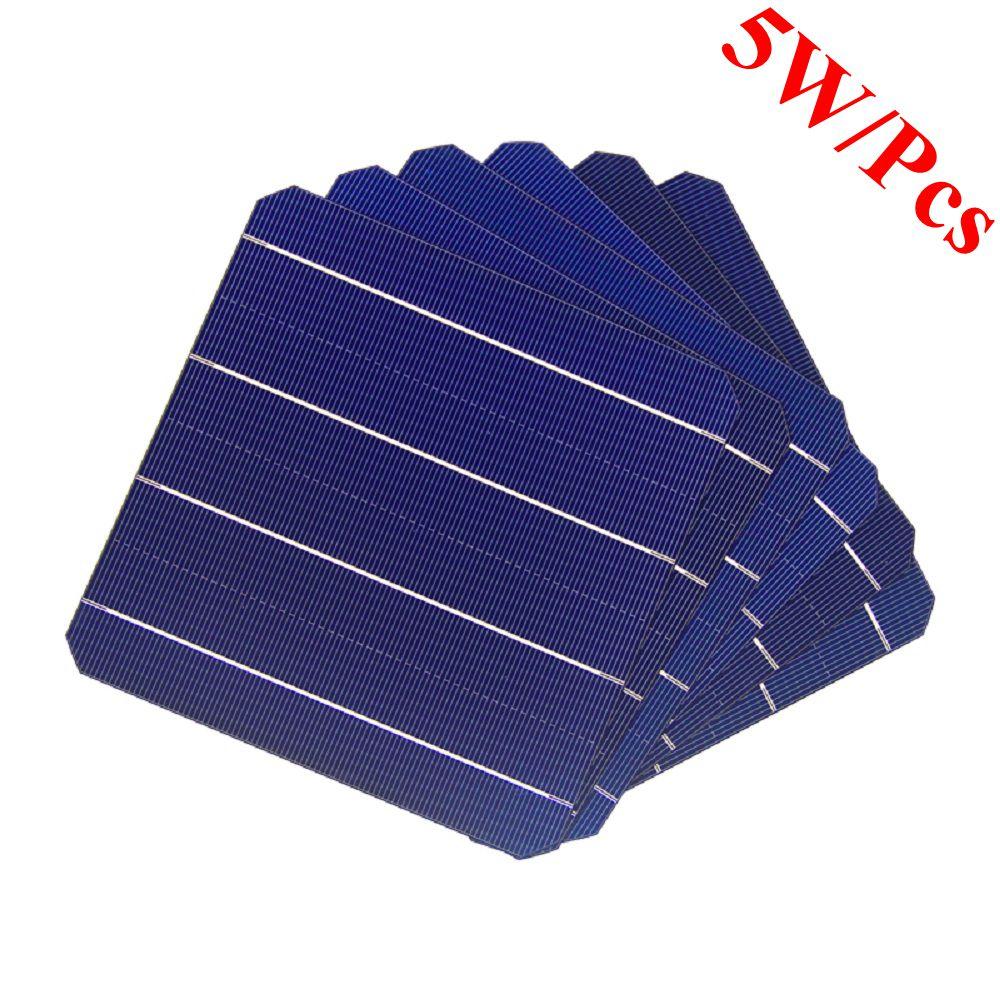 100Pcs 5W 156x156 MM panel słoneczny monokrystaliczny ogniw słonecznych 6x6 dla fotowoltaicznych domowy system fotowoltaiczny w Ogniwa słoneczne od Elektronika użytkowa na  Grupa 1