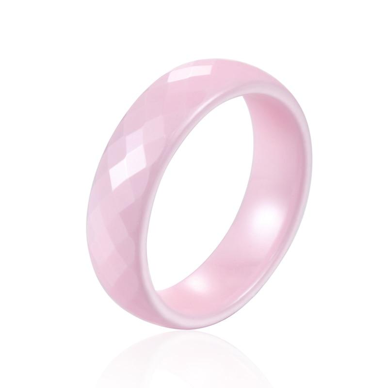 7641d4b688d2 Alta calidad sin miedo al agua sin arañazos 6mm ancho 4 Color anillo de  cerámica exquisita hermosa joyería de anillo de regalo para mujer -  www.salleram.ga