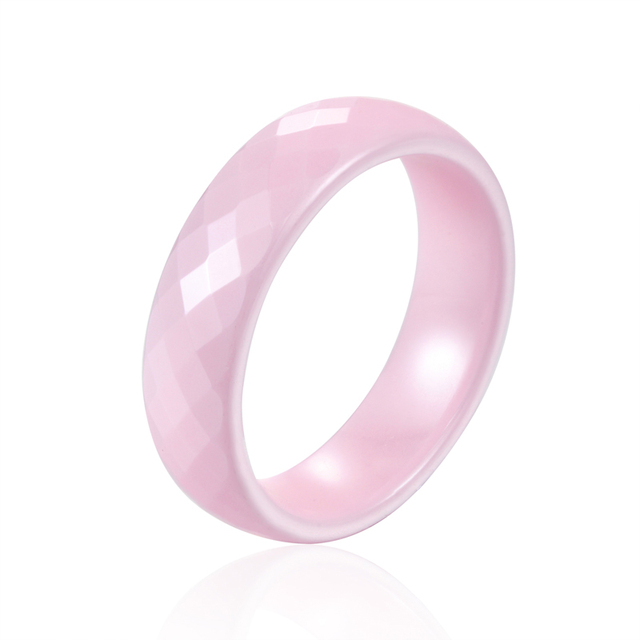 Top quality Not Afraid Of Water Without Scratches 6mm Wide 4 Color Ceramic Ring