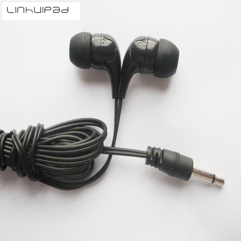 Linhuipad 3 5mm Mono Low cost earbuds for library hotel hospital school fitness spas gyms 500 pcs lot in Earphones from Consumer Electronics