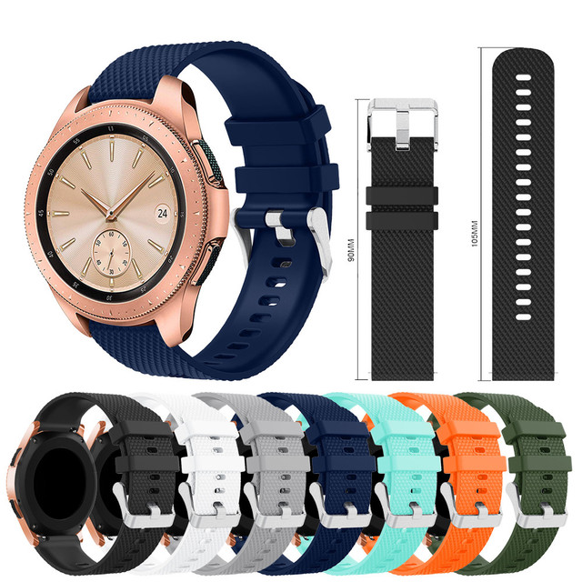 Diamond Texture Silicone Replacement Band Strap For Samsung Galaxy Watch 42mm Co