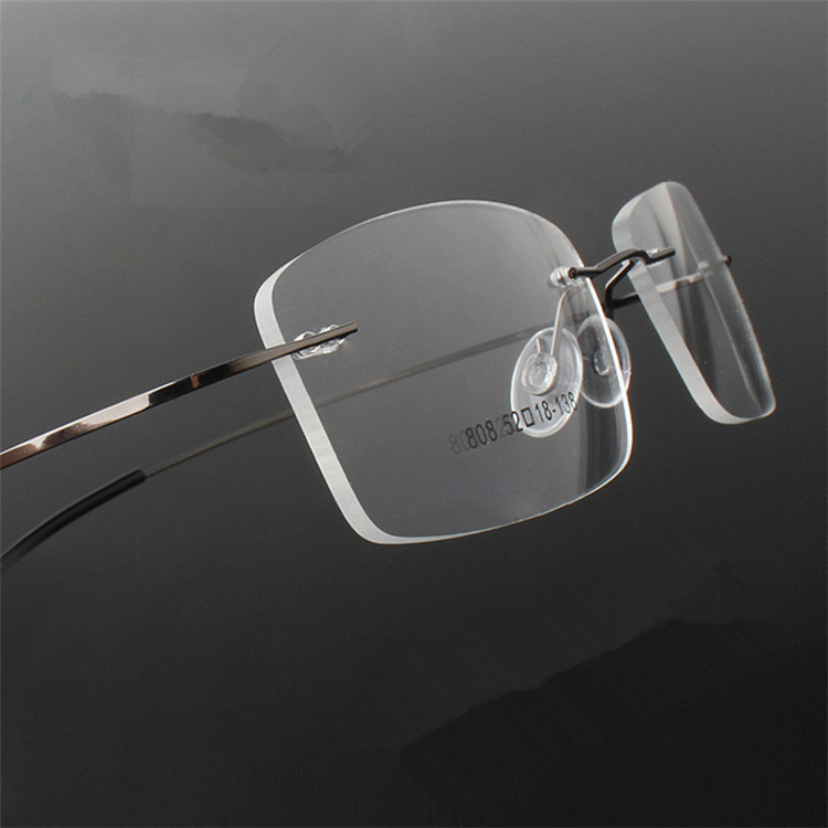 ALI shop ...  ... 32693196118 ... 2 ... Rimless Titanium Ultra light  reading glasses +1 +1.5 +2 +2.5 +3 +3.5 +4Rimless ochki dlya chteniya sin montura gafas de lectura ...
