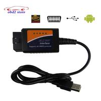 New FT232RL Chip V1.5 ELM327 USB OBD2 Auto Diagnostic Scanner Automotive OBD 2 Scan Tool ELM 327 V 1.5 USB Diagnostic Tool