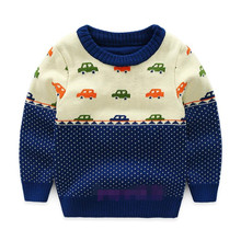 Funfeliz Boys Knit Sweaters Autumn Winter Sweater for Children Double layed Pullover Knitted Kids Sweater Boys Cardigan 3Y-9Y