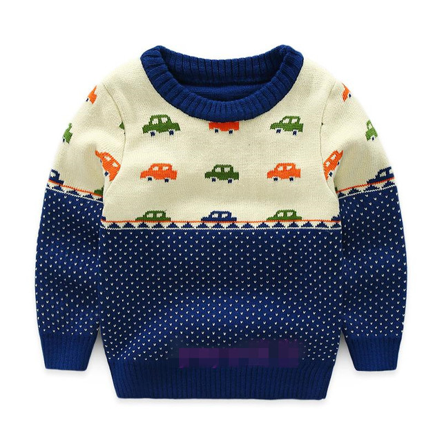 154fd8bc8654 Funfeliz Boys Knit Sweaters Autumn Winter Sweater for Children ...