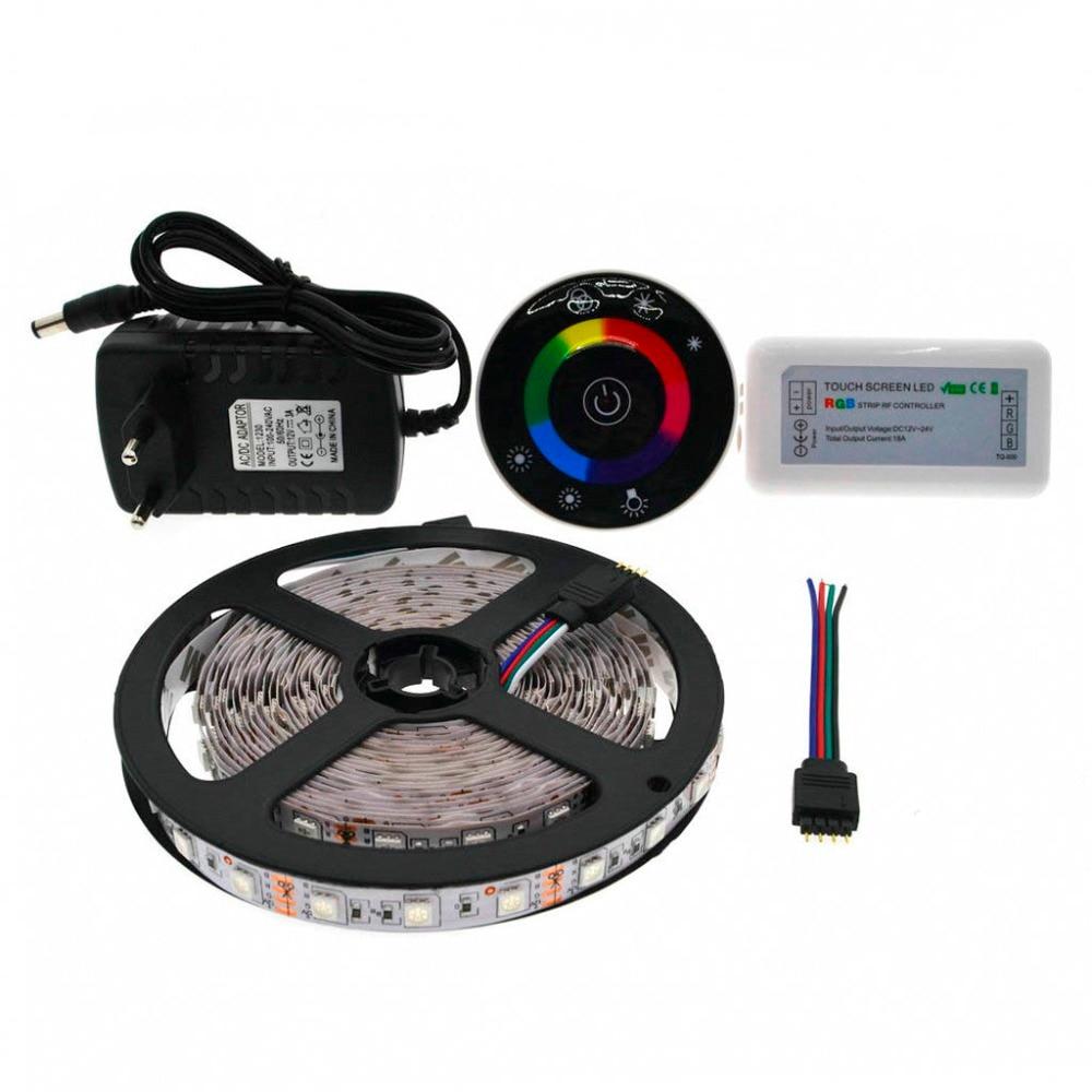 IP20 / IP65 Vattentät 5M / 10M / 15M 5050 RGB LED Strip Set med - LED-belysning