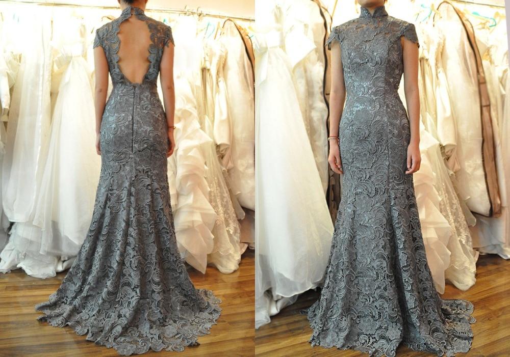 Gray Lace Bridesmaid Dress | Good Dresses