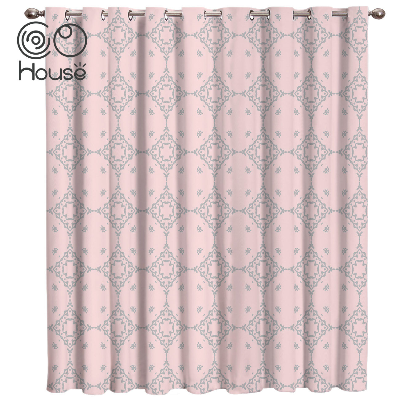 COCOHouse Bohemia Retro Ethnic Room Curtains Large Window Curtain Rod Bathroom Fabric Decor Curtain Panels With Grommets Window
