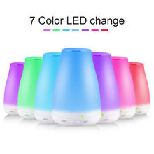 Essential Oil Diffuser 100ml Aroma Essential Oil Cool Mist Humidifier 7 Color LED Lights Changing for Home Office Baby цена 2017