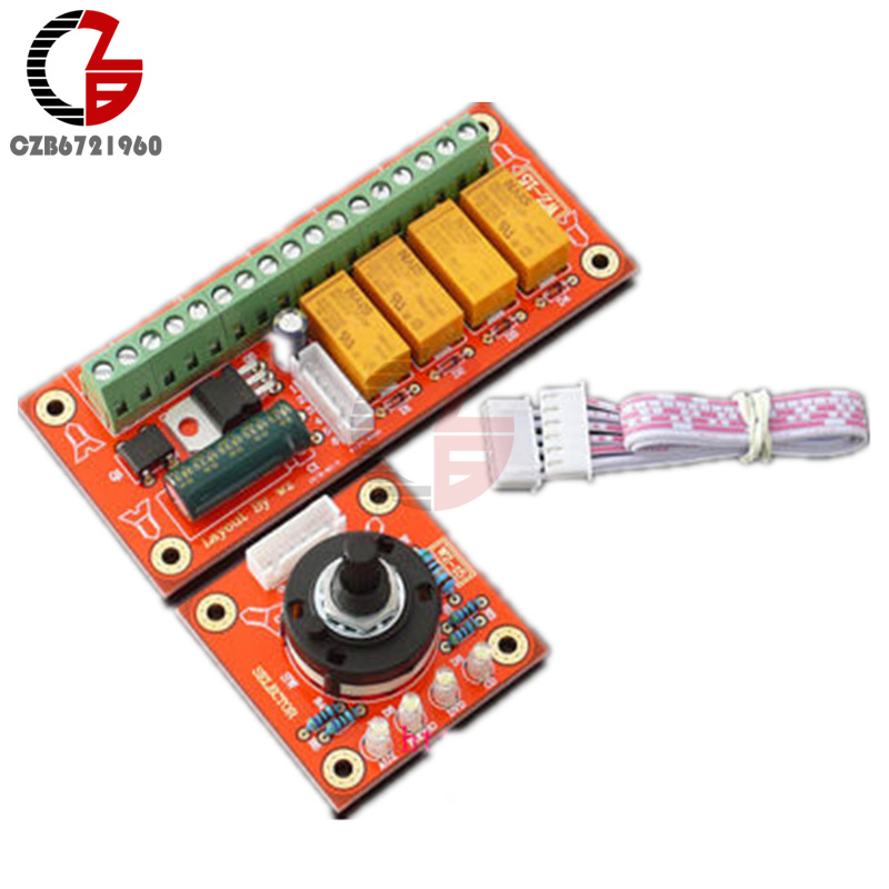 DC 12V 4 Channel Audio Signal Relay Switch Module Input Selection Board 4 Way Relay Adjustable Audio Signal Board Amplifier DIY hudson new women s size 28 black luna crop super skinny denim jeans $235 258