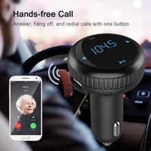 Беспроводной Hands Free Bluetooth fm-передатчик аудио плеер модулятор с USB Зарядное устройство Car Kit USB SD карты памяти Беспроводной громкой связи