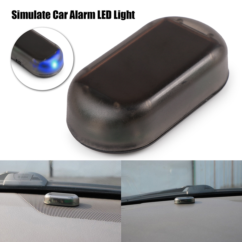 fake solar car security alarm led light security system warning theft flash blinking red blue. Black Bedroom Furniture Sets. Home Design Ideas
