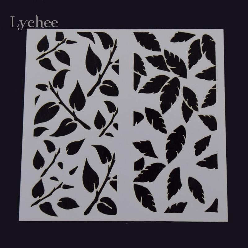 Diy Leaf Layering Stencils Walls Painting Album Scrapbooking