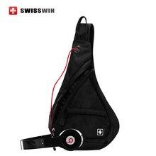 Swisswin Casual Épaule Sacs De Mode Sling Bag pour Femmes et hommes Petit Étanche Voyage Poitrine Sac Sling Pack Sac Rouge bleu