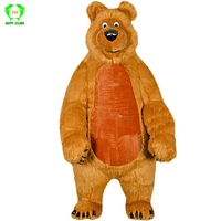 2019 New 2.6M Cartoon Bear Inflatable Mascot Costumes for Adult Cute Bear Advertising Customize Halloween Party Cosplay Costume