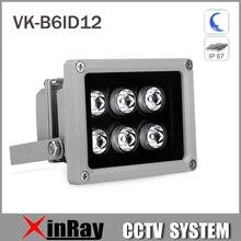 Auxiliary Infrared Light 6 Strong LED Night Vision Range 50M Aluminium Illuminator lamp for Security CCTV IP Camera