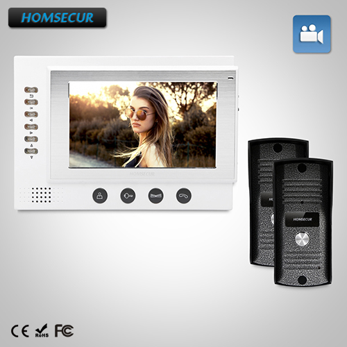 HOMSECUR 7 Video&Audio Smart Doorbell+IR Night Vision for Home Security