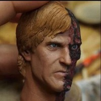 Custom 1/6 Scale Male Soldier Head Scuplt Double sided person harvey dent Head Carving Model Toys Hobbies Collections