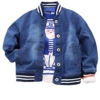 Boys Jacket Baseball School Uniform Jeans Baby Boy Football Jersey Coat Denim Toddler Boys Outwear Children