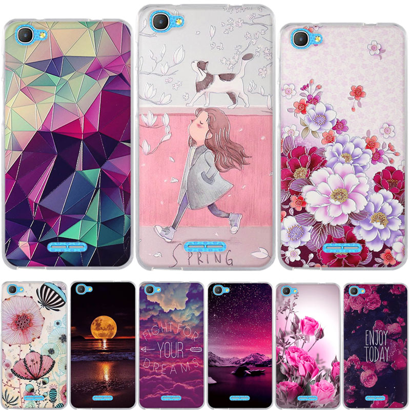 Silicon case For Alcatel Pixi 4 Plus Power 5023E 5023F High Quality Colored Drawing TPU Painted Case for alcatel pixi4 plus Capa