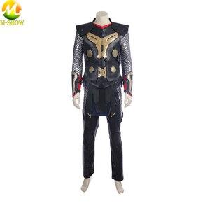 Image 3 - Film Thor Karanlık Dünya Cosplay Kostüm Superhero Thor Cosplay Cadılar Bayramı Kostüm Yelek Üst Pelerin Pantolon Custom Made