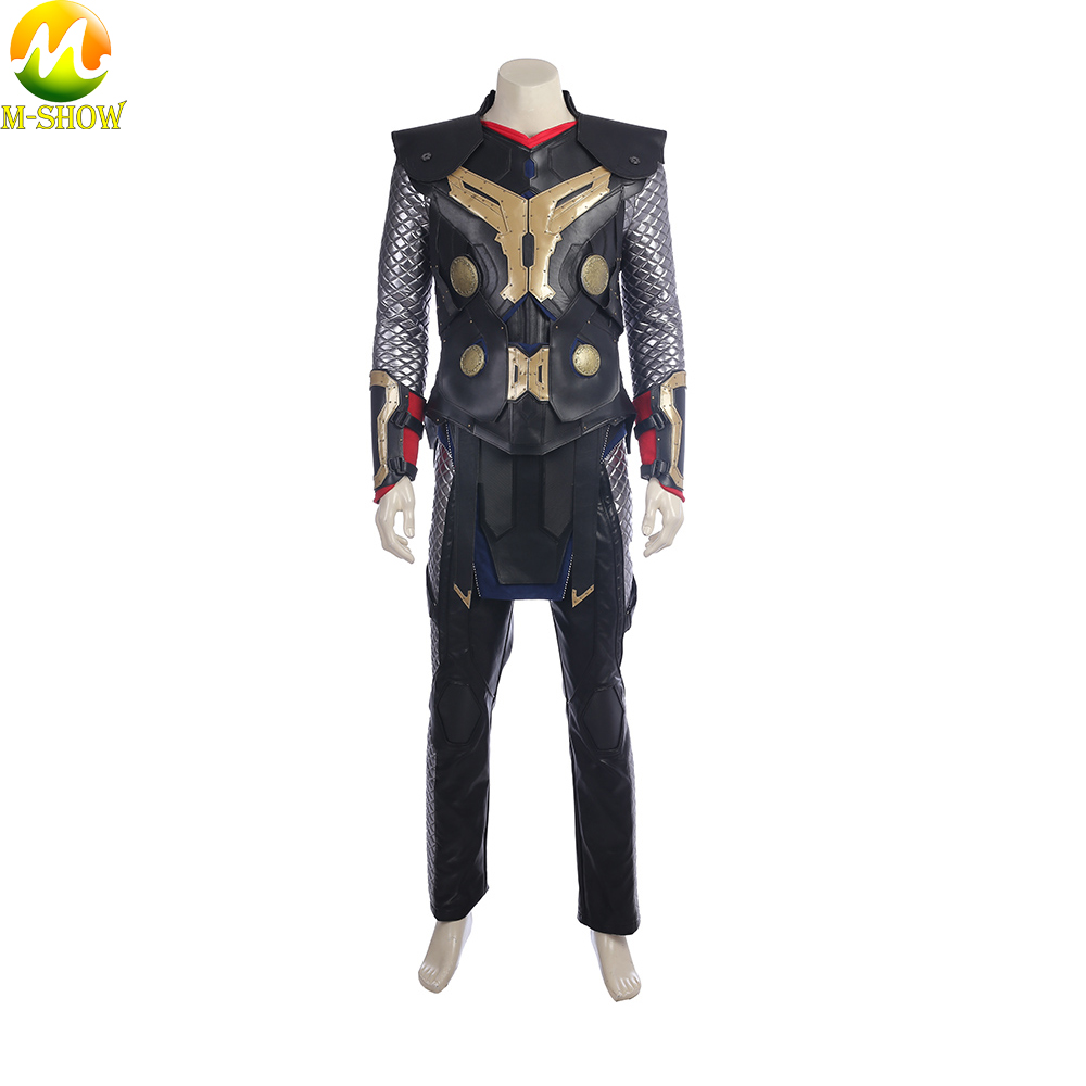 Image 3 - Movie Thor The Dark World Cosplay Costume Superhero Thor Cosplay Halloween Costume Vest Top Cloak Pants Custom Made-in Movie & TV costumes from Novelty & Special Use