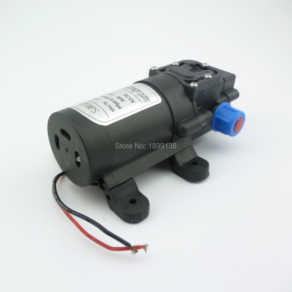 5L/min 60 W Retour type de vanne à membrane à haute pression auto amorçage mini 12 volts électrique pompe à eau