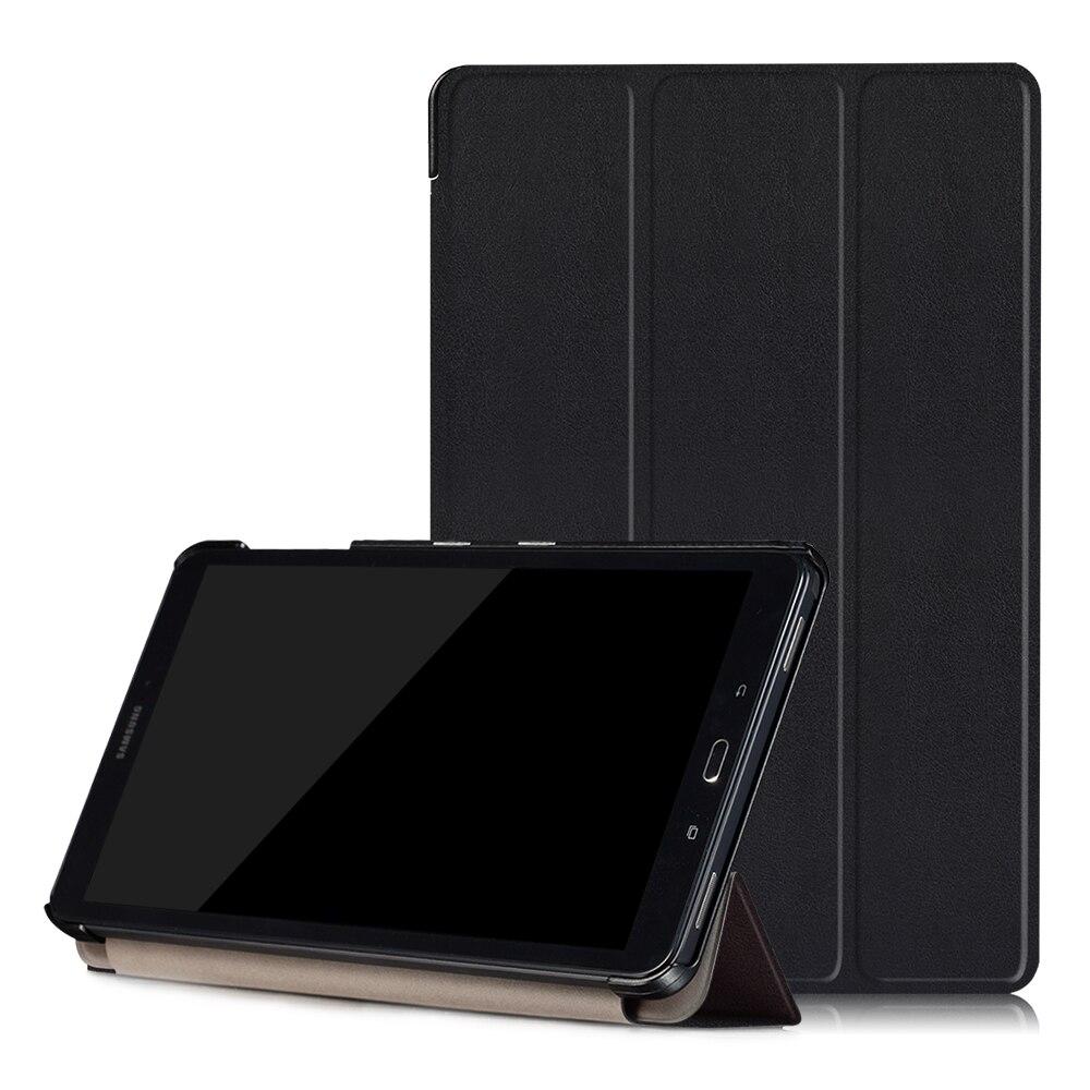 Fashion PU Leather Folding case for Samsung Galaxy Tab A P580 P585 P580N 10.1 inch tablet +film+stylus