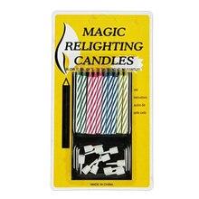 10 шт./упак. на день рождения свечи шутки остроты розыгрыши создатель трюк забава забавная гаджеты Blague Tricky не задувают свечи игрушки