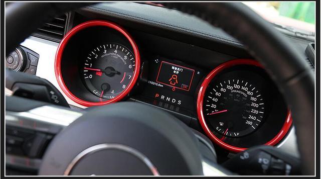 Chrome Interior Zubehor Armaturenbrett Abdeckung Trim Fur Ford Mustang 2015 2016 2017 Auto Styling