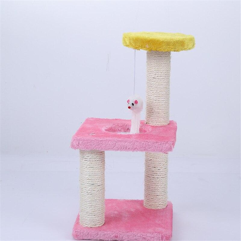Быстрая доставка игрушки для кошек качающаяся мышь мебель и скребок кошка дерево дом царапины игрушка для домашних животных котенок прыжки...