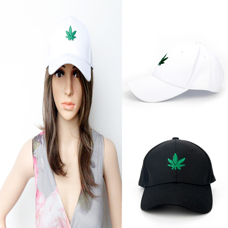HANCHANG Print Maple Leaf Flat Baseball Caps Women Girls Adjustable Snapback Hats Sports Hats & Caps Golf Cap