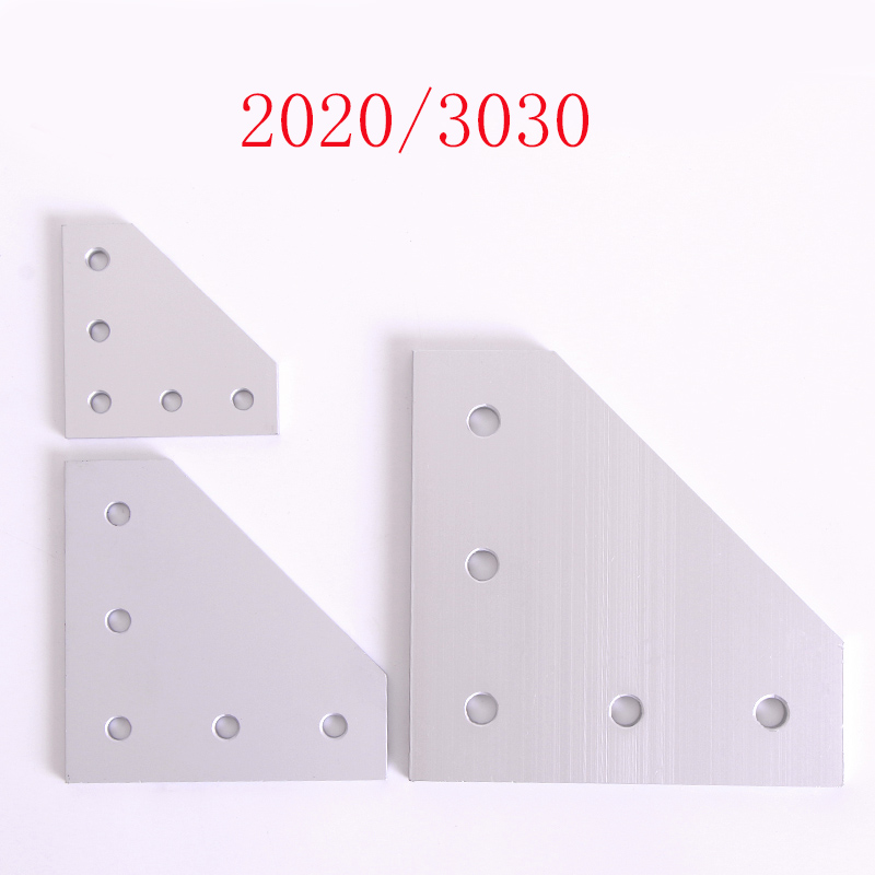 Hi-Q anodized 90 Degree Joining <font><b>Plate</b></font> with 5 OR 7 Holes For EU Standard <font><b>2020</b></font> OR 3030 Aluminum Profile Slot for Kossel DIY CNC image