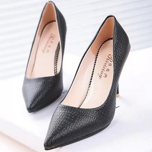 Fashion 2017 New Women Shoes Autumn Pointed Toe Womens High Heels Purple Stilettos Womens Pumps Sexy Ladies Shoes Snakeskin