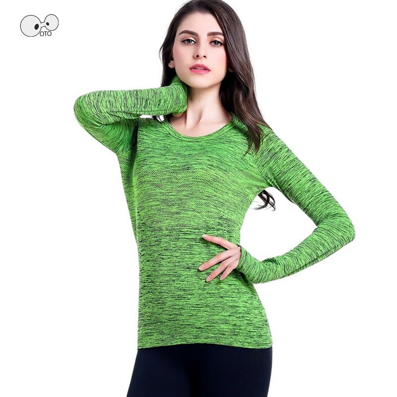 Women Long Sleeve Quick Dry Yoga Shirts Running Sweatshirt Sports Tops Workout Gym Fitness Shirt Jogging Dry Fit Jacket Female