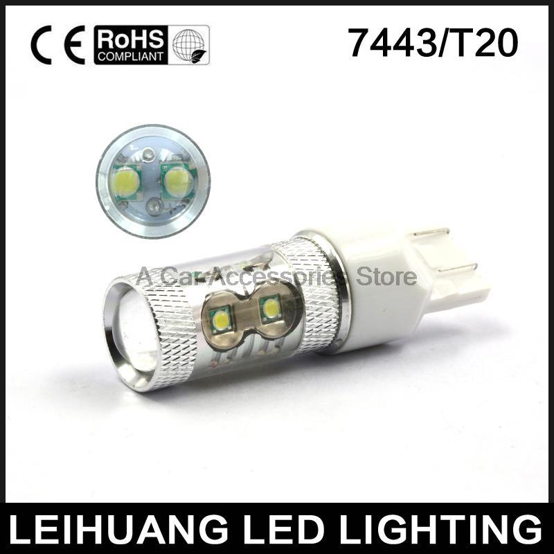 T20 Brake Light 12V 24V 50W 7440 7443 W21W    Car LED Backup Lamp 360 Degree Light Auto Brake Lamp Reverse Light Lamp 7443 7440 t20 6w 200lm 18 x smd 5050 led yellow car steering brake backup tail light 12v