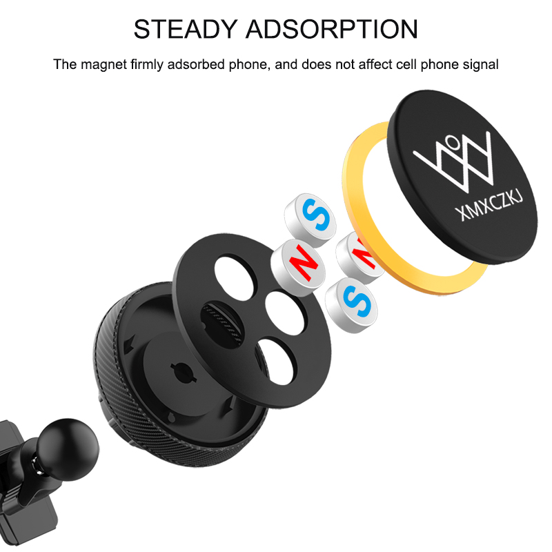 XMXCZKJ Magnetic Phone Stand Mobile Phone Holder For Iphone XS IPhone 8 Air vent Phone Mount For Samsung Galaxy Note 9 in Phone Holders Stands from Cellphones Telecommunications