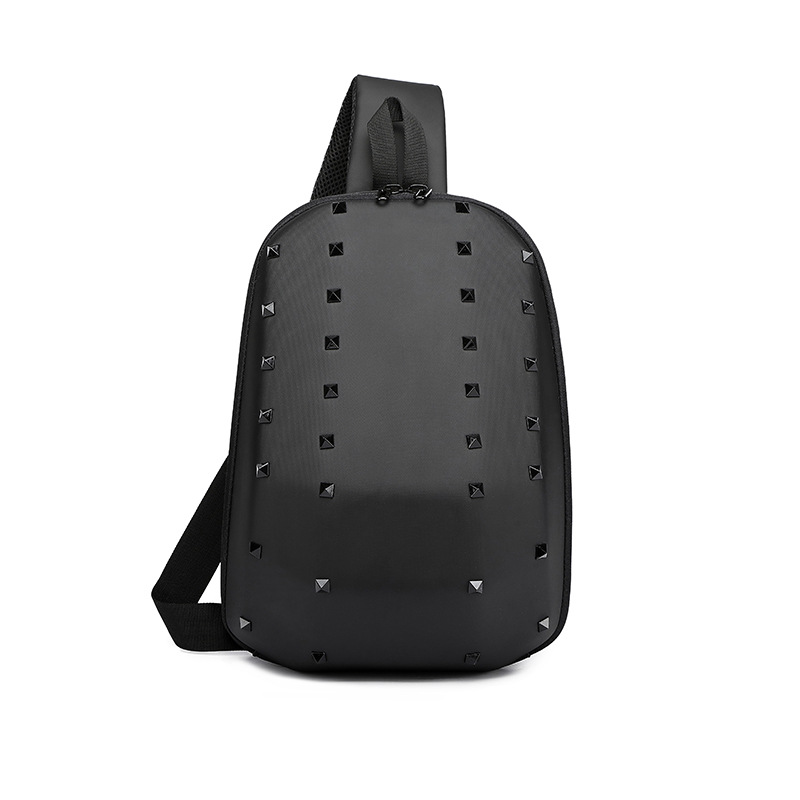 New 3D Fashion USB Charging Casual Men Chest Pack Canvas Crossbody Bags for Shoulder Handbag Travel Cross Body Bag Chestbags