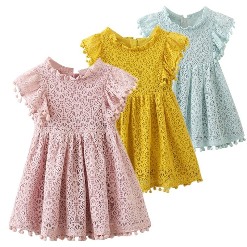 S-Clothing Dresses Birthday-Dress Baby-Girl Princess Party Kids Children' New-Brand