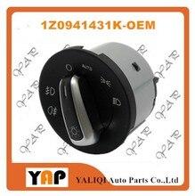 HEADLIGHT FOG LIGHT LAMP SWITCH FOR FIT VW SKODA OCTAVIA II 1Z0941431K 1Z0 941 431K CHROME