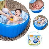 Neugeborenen Baumwolle Aufblasbare Baby-badewanne Solide Kunststoff Cartoon Sicherheit Aufblasen Baby Schwimmbad Badewanne Kissen Sicherheit