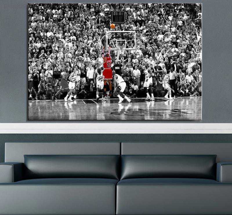 Drop Shipping Basketball Star Canvas Painting For Living Room Home Decor Modern Wall Art Oil Painting Poster Print In Painting Calligraphy From Home