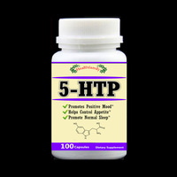 5 HTP Reduce Stress Positive Mood Helps Control Appetite Promote Normal Sleep Aid 5HTP 100pcs Bottle