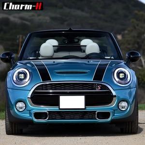 Автомобильный Стайлинг капота в полоску стикер багажник Задняя крышка двигателя виниловая наклейка наклейки для Mini Cooper R56 R57 F55 F56 аксессуары